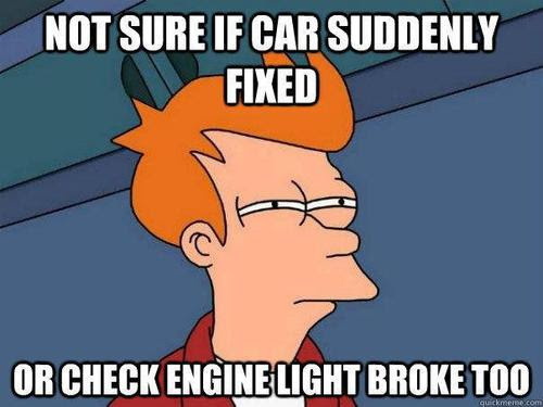 Image result for funny check engine light